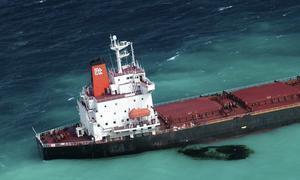 El petróleo del carguero chino podría destruir el coral