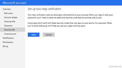 Microsoft también adoptará la verificación en dos pasos