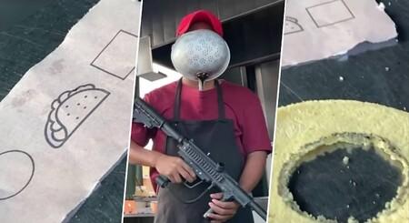 Taquería de Veracruz México hace su propia versión de El Juego del Calamar y lo comparte en Facebook