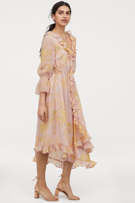 vestido cruzado volantes priyanka chopra