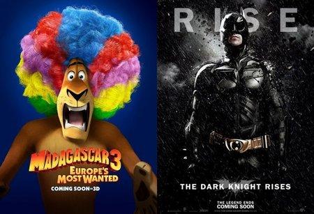 Taquilla española | Batman cae ante el estreno de 'Madagascar 3'
