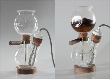 La llamativa cafetera con forma de balón de cristal por Davide Mateus
