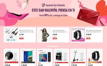 Cupón de descuento exclusivo de 6 euros en Aliexpress Plaza y ofertas en móviles y planes para San Valentín en AliExpress