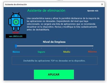 Eliminar Aplicaciones Sistema Android