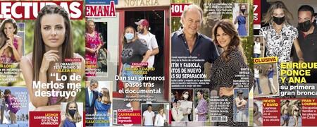 Rocío y David Flores ante notario tras la docuserie de su madre, la bronca de Enrique Ponce y Ana Soria, Fabiola y Bertín juntos de nuevo... Estas son las portadas de la semana del 2 de junio