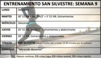 Entrenamiento para la San Silvestre: Semana 9 (FIN)