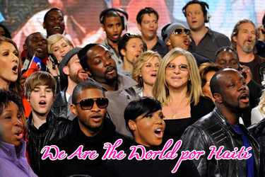 Ochenta celebrities cantan 'We Are The World' por Haití