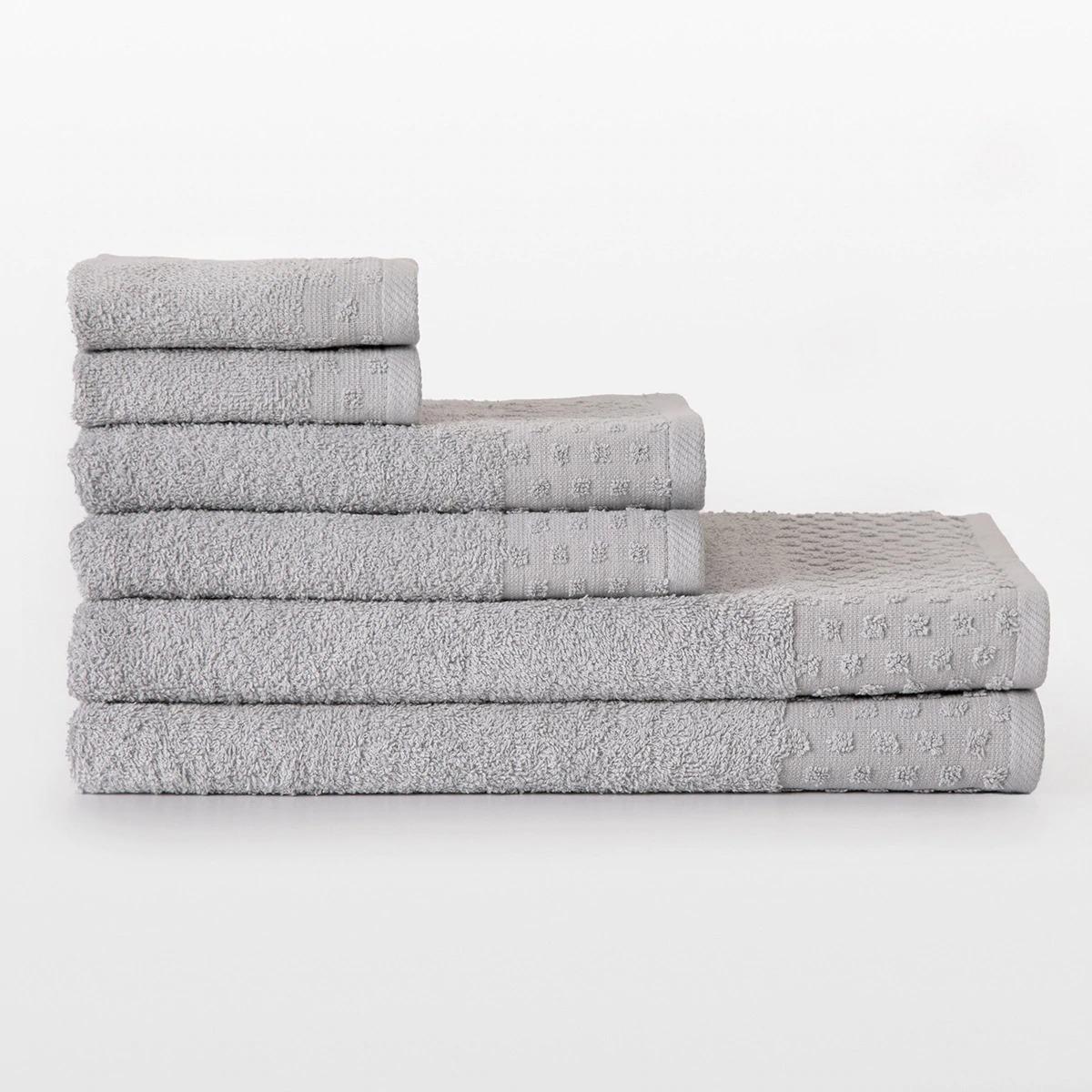 BASICS EL CORTE INGLÉS Juego de 6 toallas de baño Heaven Basics