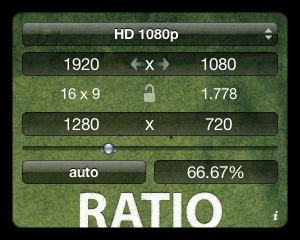 Ratio, widget para calcular resoluciones