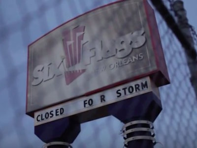 Cómo el huracán Katrina destruyó un parque temático de éxito... y a Hollywood le encantó