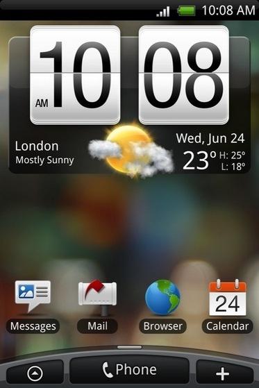 HTC Sense funcionando sobre el HTC Touch