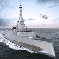 El diseño de arco invertido de la nueva fragata de la marina francesa es un desafío a siglos de ingenería naval