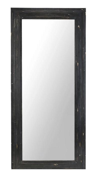 WEST INDIES - Espejo con molduras de pino negro 80x175