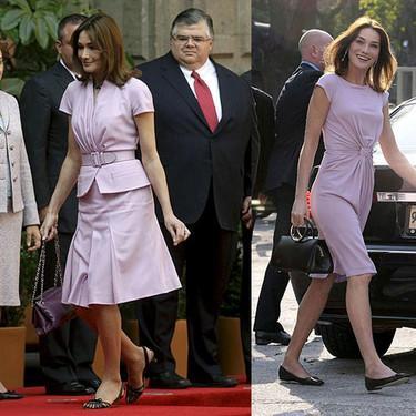 Los looks de Carla Bruni en México