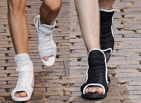 ¿Los peep toes masculinos?