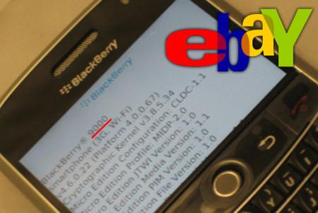 BlackBerry 9000 en eBay