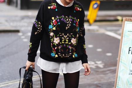 El embroidery toma las calles de Milán y se convierte en protagonista del street style