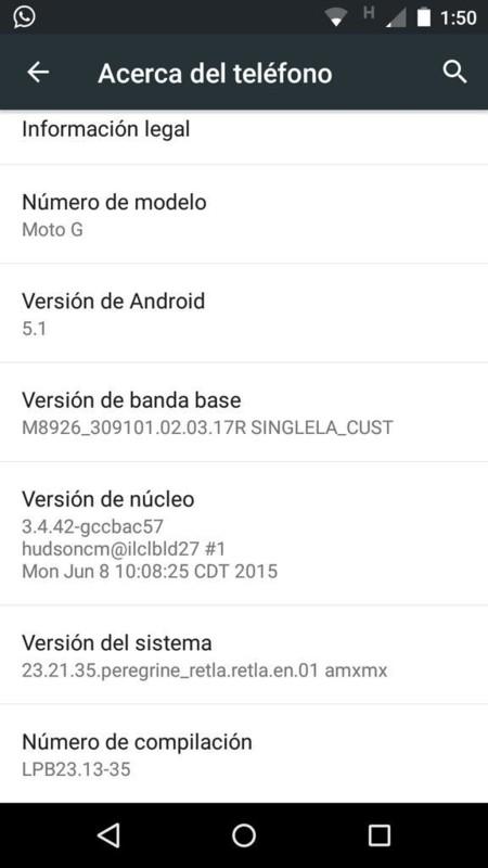 Moto G 4G 2013 5.1