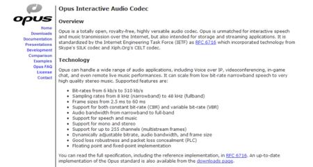 Opus, el códec de audio libre creado por Mozilla, Google y Skype