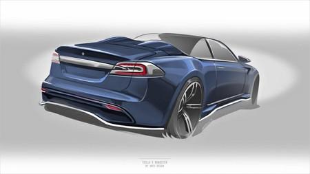 Solo dos puertas y dos asientos, así será el Tesla Model S Roadster de Ares Design