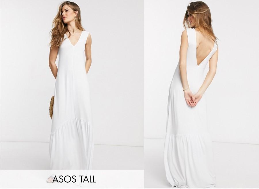 Vestido blanco ASOS DESIGN Tall