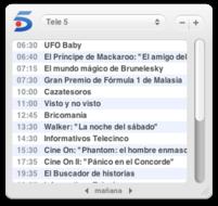 laTele: Widget con la programación de las cadenas de TV españolas