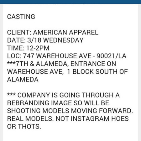 American Apparel Hoes Thots