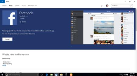 Facebook, Facebook Messenger e Instagram llegarán a Windows 10 como aplicaciones universales