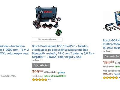 Oferta Flash: sólo hoy 25% de descuento en 7 herramientas profesionales de Bosch en Amazon
