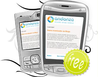 Andanza, para hacer una versión móvil de tu blog