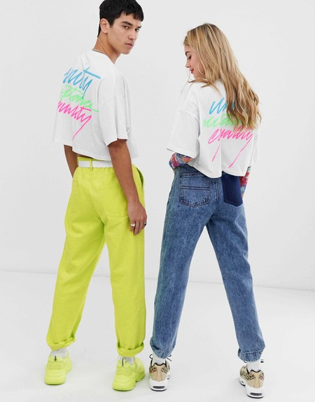 Asos Design X Glaad Unisex Cropped T Shirt With Embroidery 3