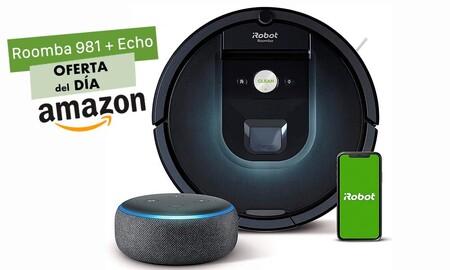 Hasta la medianoche, Amazon te deja un pack con el Roomba 981 y un altavoz Echo Dot por sólo 529 euros