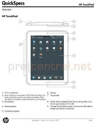 ¿HP Touchpad el 12 de Junio?