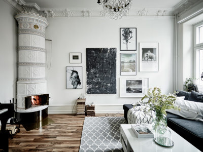 9 ideas para decorar en blanco y negro