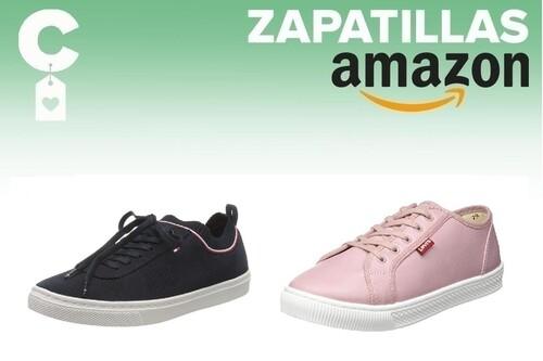Chollos en tallas sueltas de zapatillas Tommy Hilfiger, Levi's o Diesel en Amazon