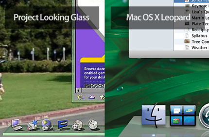 Parecidos razonables entre el Dock de Leopard y el Project Looking Glass de Sun