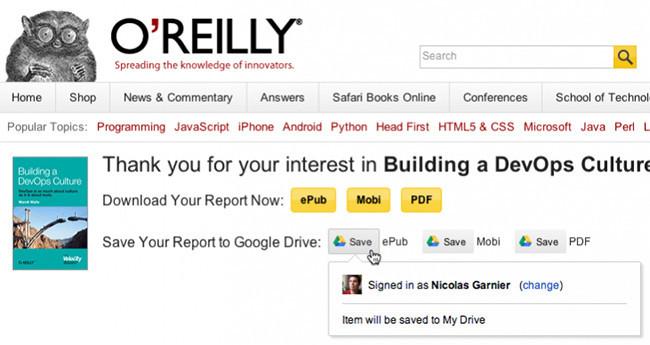Google lanza un botón para guardar archivos de la Web directamente en Drive