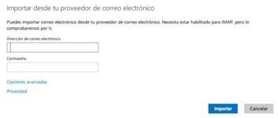 Outlook.com es ahora capaz de importar correos de otros servicios IMAP