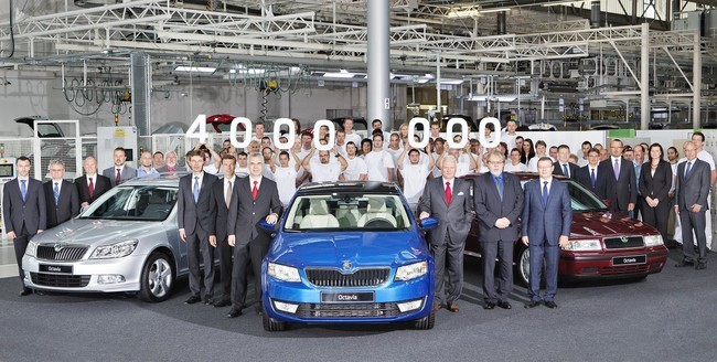 Škoda produce el Octavia número 4 millones