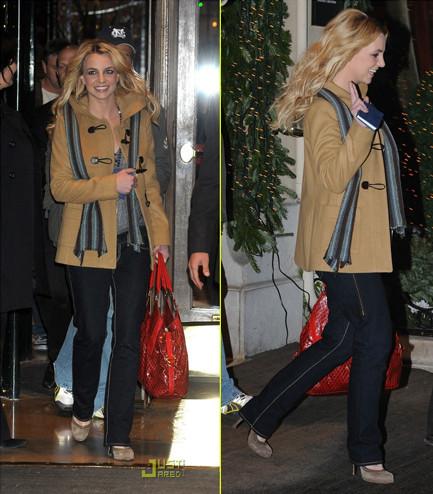 El look de invierno de Britney Spears