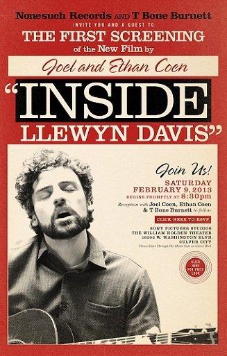 Imagen con un cartel de 'Inside Llewyn Davis'