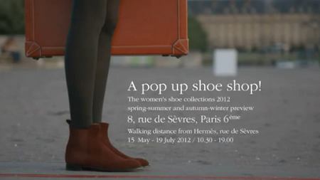 Hermès se pone a tus pies con una Pop Up Shoe Shop