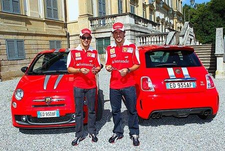 Fernando Alonso y Felipe Massa ya tienen sus Abarth 695 Tributo Ferrari