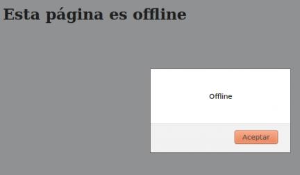 Ejemplo de evento para modo offline en Firefox