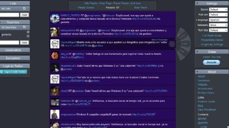 Twitterfall: una cascada de tweets