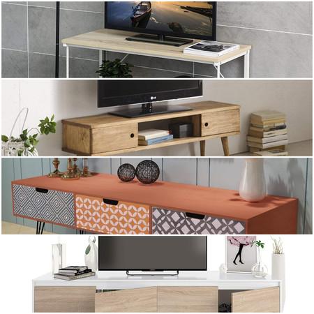 9 muebles de tv por menos de 160 euros que no son de Ikea