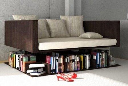 Sofá y librería... ¡todo junto!