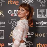 Premios Goya 2019: Cristina Castaño sorprende con su coleta y, sobre todo, con  sus pestañas