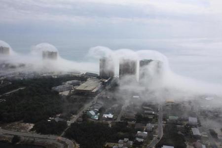 Fotografiando el efecto Foehn: Un tsunami de nubes sobre Miami