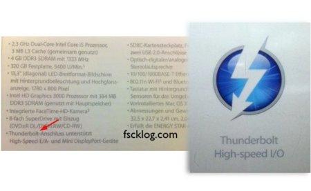 """""""Thunderbolt"""" la nueva característica de Apple para los portátiles"""